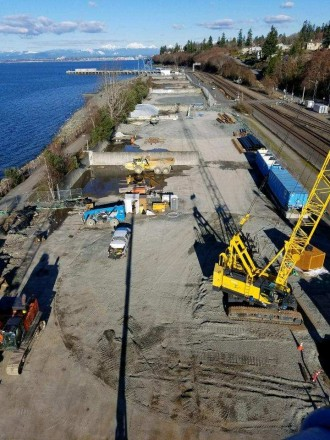 Aerial View of Mukilteo Ferry Terminal Construction Site