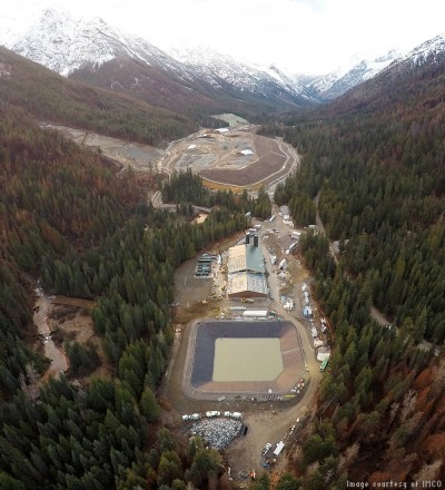 Ariel shot of Holden Mine Water Treatment Plan project site