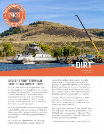 keller ferry on water with IMCO crane