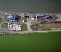 Bird's eye-view of Marysville Wastewater Treatment Plant