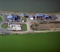 Bird's eye-view of Marysville Wastewater Treatment Plant