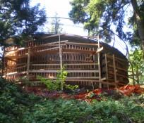 wooden structure for seismic retrofit construction