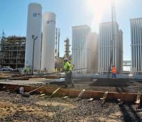 IMCO General Construction crew at Air Liquide site at Moses Lake, WA