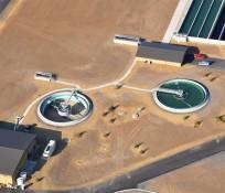Bird's eye-view of Spokane, Washington's Airway Heights Water Reclamation Plant