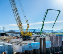 Construction crane at Lynden Water Treatment plants