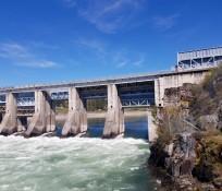 Dam spillway with rushing water at Albeni Falls