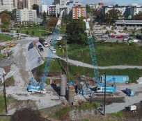 Aerial view of Yesler Terrace construction site
