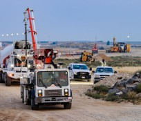 IMCO Construction vehicles at the Orchard Combat Training Facility