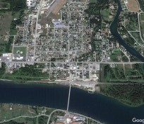 Google earth image of Priest River Idaho, ariel view