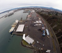 Port of Everett South Terminal Wharf Bird's-eye view