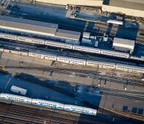 Amtrak Rail Yard Seattle King Street Coach Yard Station Maintenance IMCO