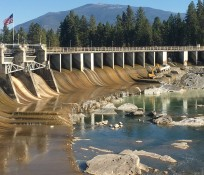 IMCO performing work at Thompson Falls Dam