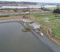 Aerial View of Everett Water Pollution Control Facility Running Parallel to Interstate 5