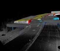 I-90 HOV Point Cloud Image Tunnels IMCO Construction