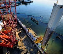Crane view of Seattle Central Community College's Maritime Academy Infrastructure